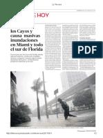 Diario La Tercera de Santiago, Chile 11-09-2017 Florida Sufre El Embate de Irma (2).