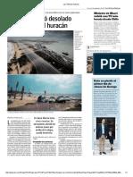 Diario Las Últimas Noticias de Santiago, Chile 08-09-2017 El Caribe Quedó Desolado Tras El Paso Del Huracán.