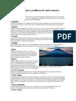 Volcanes Montañas y Cordilleras de Centro America