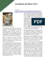 Hablamos Del Socialismo Del Buen Vivir Boaventura de Souza Santos