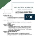 Modelo CV Experiencia Laboral Junior