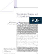Diversification Strategy and Firm Performance