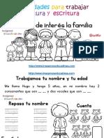 Tabajamos La Lecto Escritura Centro de Interes a Familia PDF