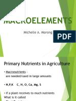 Macroelements Presentation