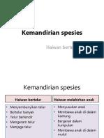 Kemandirian spesies