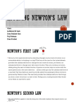 Applying Newtons Law
