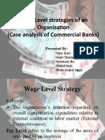 Wage Level Strategies of an Organization