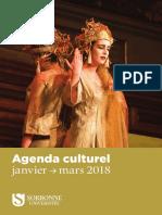 Agenda Culturel Janvier Mars 2018
