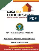 Apostila Ata 2016 Assistente Tecnico Administrativo