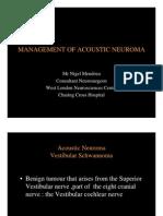 Acoustic Neuroma-web Presentation