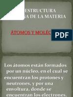 LA ESTRUCTURA Interna de La Materia átomo