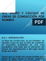 Unidad III.2.- Diseño y Cálculo de Líneas de Conducción Por Bombeo