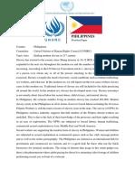 Position Paper Danang Philippines UNHRC