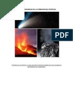 Teorías Inorgánicas de La Formación Del Petróleo