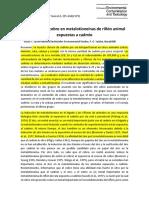 Artículo 6 Contenido de Cobre en Metalotioneínas de Riñón Animal Expuestas a Cadmio