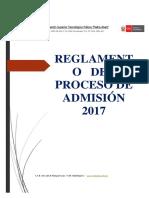 Reglamento de Admisión 2017