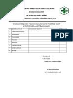 9.2.1.6.a. Rencana Perbaikan Pelayanan Klinis Yang Prioritas Bukti Monitoring Dlm Pelaksanaan