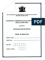 NCSE 2015 Integrated Science