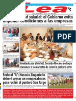 Periódico Lea Martes 13 de Marzo Del 2018