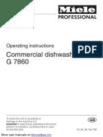 Miele Dishwasher G 7860