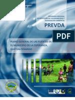 Plano General de Las Fuentes de Agua, Municipio de La Esperanza