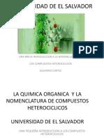 Introducción a La Nomenclatura de Los Compuestos Heterocíclicos