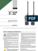 Icom IC-A24_A6 Instruction Manual