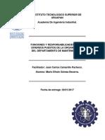Funciones y Responsabilidades de Los puestos de mantenimiento