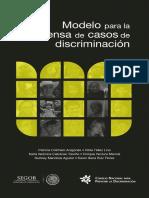 Modelo Para La Defensa de Casos de Discriminacion