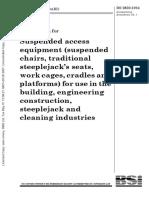 BS2830 Suspended Work Platforms & Baskets