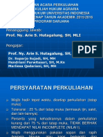 Kuliah i Hukum Agraria Semester Genap 2015 2016