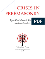Crowley - The Crisis in Freemasonry