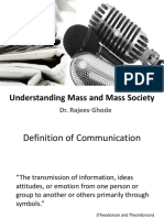 Unit1 Understanding Mass and Mass Society