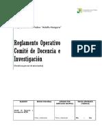 Reglamento Operativo Versión Septiembre 2015