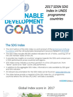 NYDO Vietnam Document - 2017 UNSDSN SDG Index - Analysis for UNDS Programme Countries