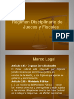 Régimen Disciplin. Jueces Fiscales