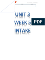 _U3W5_Unit 3 Week 5 Intake