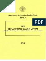 [www.wangsiteducation.com]um ugm 2013 dasar kode 251(mark).pdf