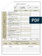 teacher assessment form