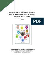 Renstra BBIA 2015-2019 Revisi Ke-2