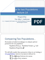 Inference for Two Populations