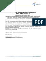 Use of EFSA Primo Model v3
