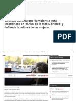 """Carmena Destaca Que """"La Violencia Está Incardinada en El ADN de La Masculinidad"""" y Defiende La Cultura de Las Mujeres"""