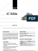 Icom IC-E208 Instruction Manual
