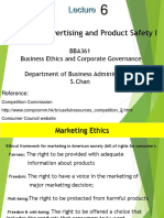 Lecture 6 Marketing, Advertising and Product Saftey (REV) I