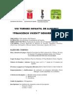 """VIII TORNEO INFANTIL DE AJEDREZ """"FRANCESCH VICENT"""" SEGORBE 2018."""