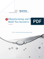 Manufacturing and the R and D Tax Incentive PDF