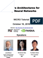 Hardware Architectures for Deep Neural Networks-MIT'16