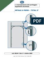 00144 Manuale Uso Manutenzione Ponteggio Perni TX Sicurezza Rev0