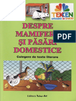Culegere de Texte literare Despre mamifere si Pasari domestice Ed.tehno.art TEKKEN